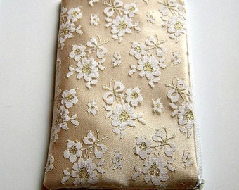 Evening Bag Clutch in Gold and Lace