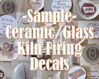 Waterslide Decals for use on Kiln Fired Pottery, Fused Glass or Enamel - Sample Decal To Test/Try