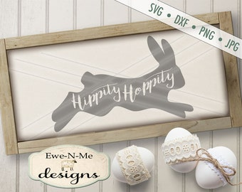 Hippity Hoppity SVG - Easter SVG - Easter Bunny svg -  bunny silhouette svg - Bunny with text SVG - Commercial Use svg, dxf, png, jpg