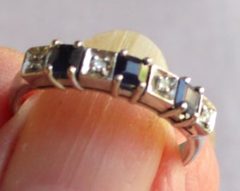 Silver Ring with 3 Sapphires