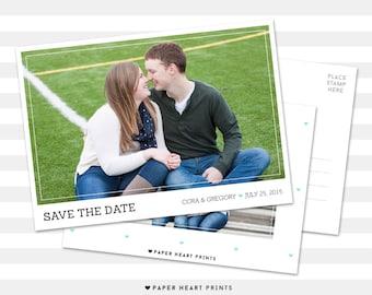 Photo Save-the-Date Postcard, Custom Save the Dates Photo Card, Modern Wedding Photo Card, Engagement Postcard - Cora