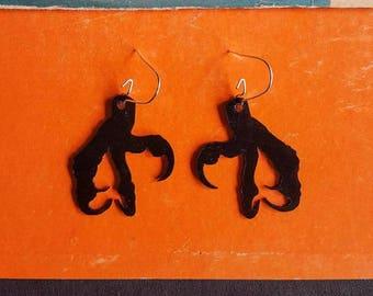 Dragon Claw Earrings Final Fantasy Style Jewelry Talon Laser Cut Vinyl Record  Earrings Small