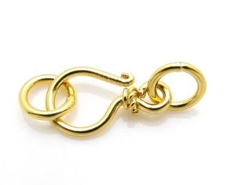 1 Set, 21mm, 24k Gold Vermeil Clasp