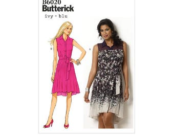 Butterick 6020 - Button-Up Shirt dresses and Belt (out of print)