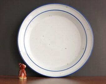 """Dansk Blue Mist Deep Round Platter - Vintage Dansk Blue & White 13"""" Serving Bowl Platter - Dansk Designs Blue Mist - Niels Refsgaard Design"""
