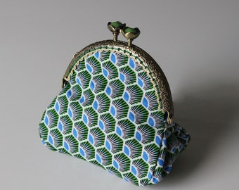 Retro purse Peacock tail
