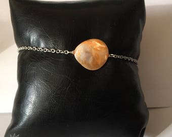 mother of pearl bracelet with lobster clasp