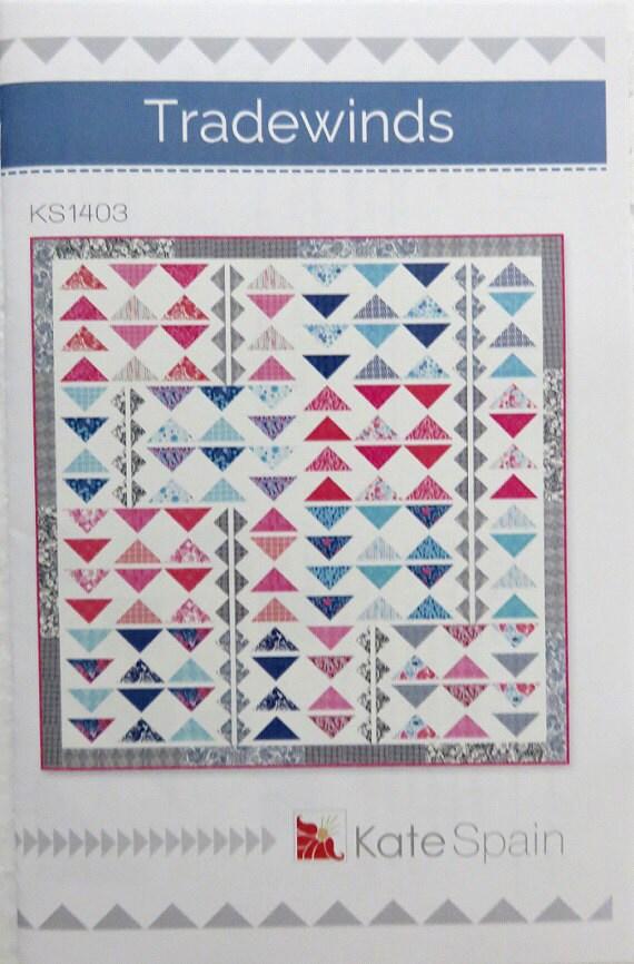Tradewinds Quilt Pattern Kate Spain Ks 1403 Modern Fat