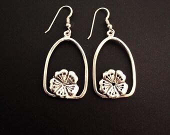 Sakura Arch Sterling Silver Earrings