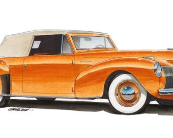 1941 Lincoln 12x24 inch Art Print by Jim Gerdom