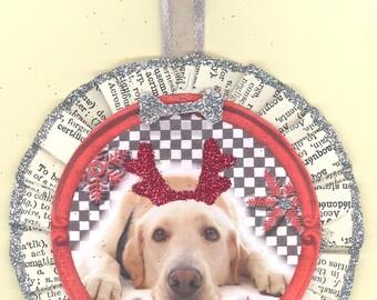 Yellow Lab Dog Christmas Ornament