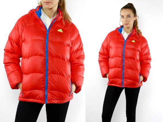 Puffer Jacket Down Jacket Adidas Puffer Jacket Vintage Down Jacket Red Puffer Jacket 90s Puffer Jacket 90s Down Jacket Vintage Puffer