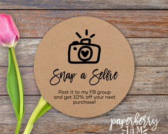 Snap a Selfie Stickers / Packaging Stickers / Lipgloss, Makeup / Take A Selfie / fashion consultant / Independent Sales rep