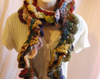 Long Multicolored Bohemian Kudo Scarf