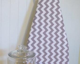 Designer Ironing Board Cover - Riley Blake Chevron Grey - MEDIUM