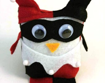 Harley Quinn Mini Owl Stuffie Plush Doll