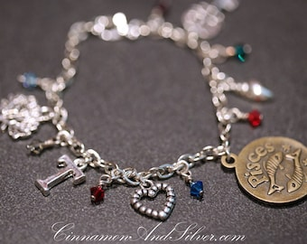 Choose a Charm Custom Charm Bracelet, Silver Tone Custom Charm Bracelet, Personalized Silver Charm Bracelet, Custom Gift Bracelet Jewelry