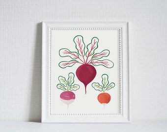 Root Vegetables - Modern Farm Garden Art Print