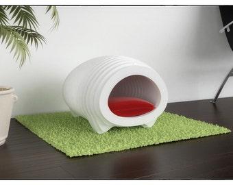 CAT HOUSE IGLOO - template cutting file - Sliced 3d Model Cat Litter Box Cover, Cat House, Cat Litter Box Cabinet, Pet House