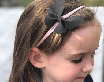 Butterfly Headband, baby bow headband, baby headband, nylon headband, butterfly, baby girl headband, baby girl, newborn headband, black