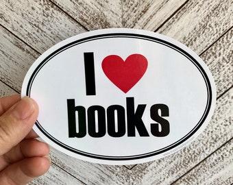 I love books vinyl sticker