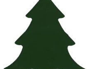 """Large Fusible Glass Tree: Dark Green COE 96, size 3"""" by 3"""""""