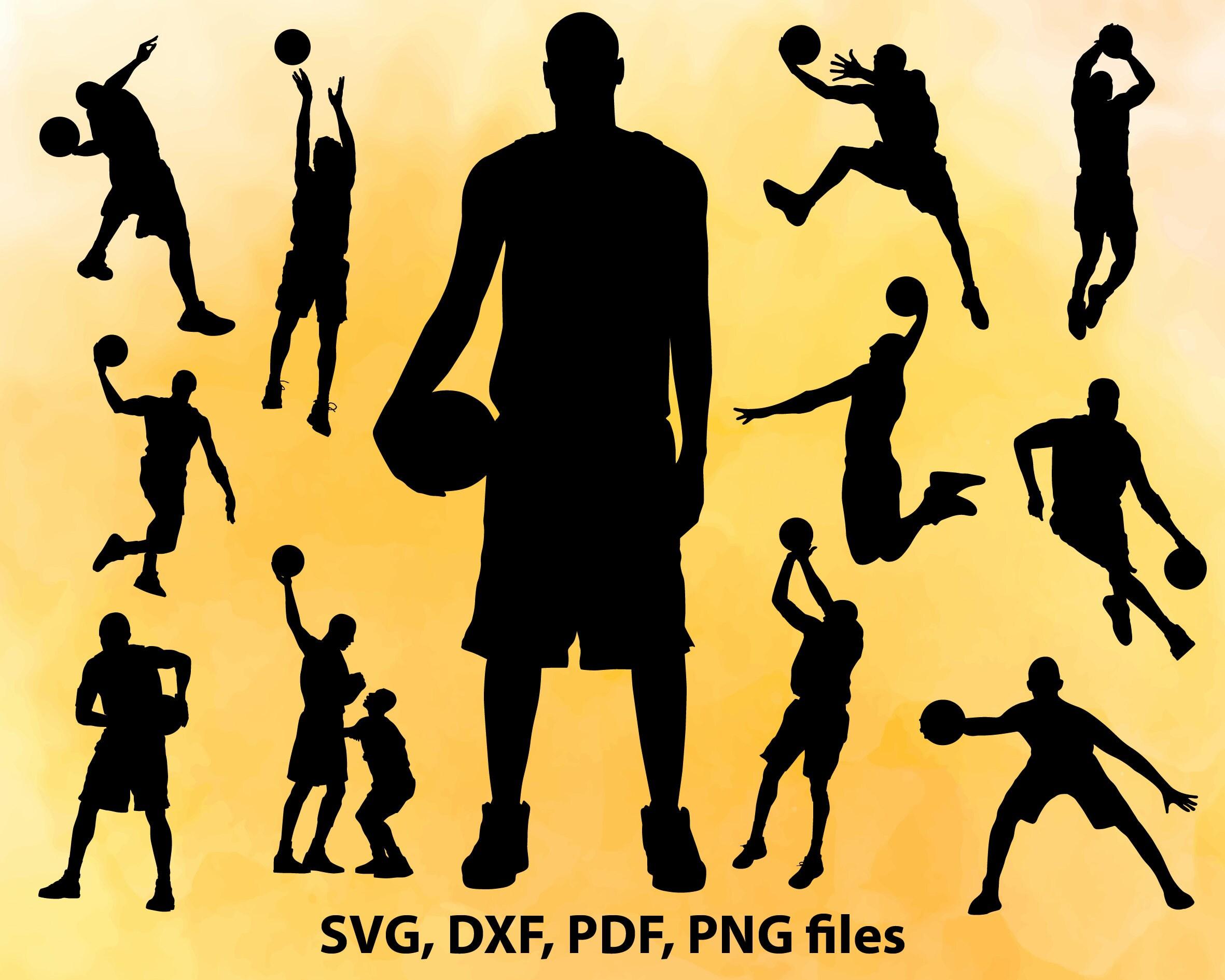 Basketball SVG File Basketball player DXF Cut File