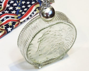 Vintage Avon Liberty Dollar Bottle, Americana Collectible, Empty Tribute After Shave Bottle itsyourcountry