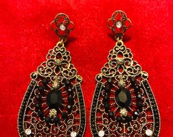 Mexico filigree etsy mexican filigree earrings chandelier earrings special occasion earrings boho earrings ethnic earrings mozeypictures Images