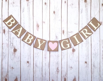 BABY GIRL banner, its a girl banner, it's a girl banner, gender reveal banner, baby shower banner, baby shower decor,baby shower decorations