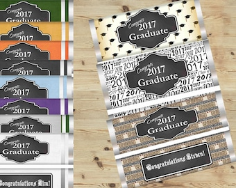 Chalkboard Graduation party Favors, Chalkboard Graduation Candy Bar Wrapper gifts, classroom treat Graduation Candy Bar Wrappers. Set of 20.