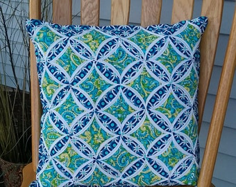 Cathedral Window Pillow, Toss Pillow, Throw Pillow, Decorative Pillow