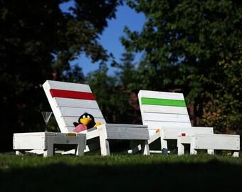 Garden chair made of lumber