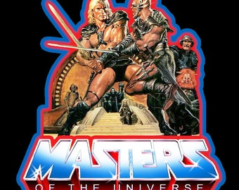80's Sci-Fi Classic Masters of the Universe He-Man Movie Poster Art custom tee Any Size Any Color