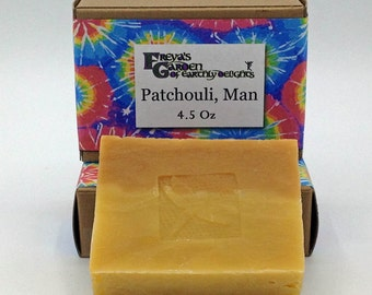 Patchouli Essential Oil Vegan Shea Butter All Natural Handmade non-GMO Soap