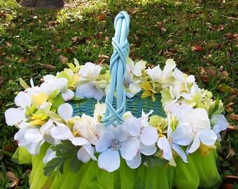 Easter basket, Spring basket, summer basket, floral basket, home decor, Designs on Holiday, table decor, spring centerpiece, Easter decor