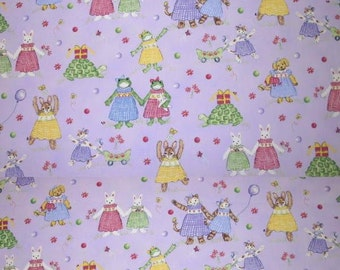 Petite Playmate Lavender Fabric Children Nursery Printed Decorative Home Decor