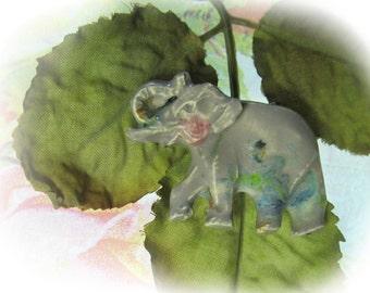 Elephant bead, Pendant bead, Focal bead, Handmade ceramic bead, clay bead,     # 78