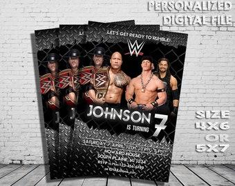 Wwe etsy wwe wwe invitation wwe raw card wrestle birthday wrestling printable boy bookmarktalkfo Image collections
