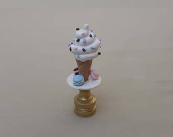 Cookies and Ice Cream Lamp Finial... Hand Crafted to Order.