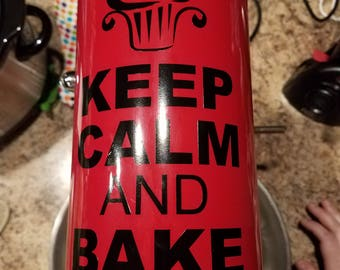 Keep Calm And Bake On Set of 3 Mixer Decals for your KitchenAid or Other Mixer