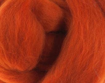 Superfine Merino Wool Roving in DHG Pumpkin - 4 oz.
