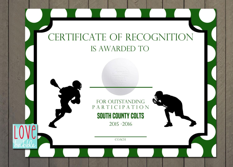Lacrosse sports award certificate 85 x 11 printable digital zoom yelopaper Gallery