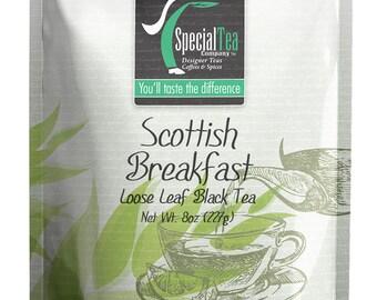 8 oz. Scottish Breakfast Blend Loose Black Tea with Free Tea Infuser