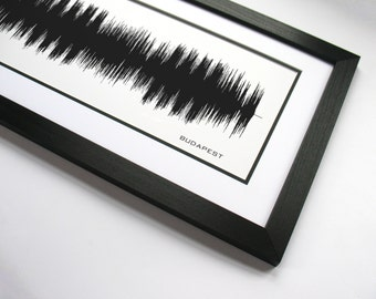 Budapest - Sound Wave Art. Made from entire song.