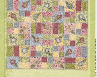 FREE US SHIP Craft Sewing Pattern Quilt Tenderberry Stitches Bloom'n Rags Primitive flower floral uncut  t175 2002