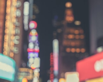 new york city photography new york city decor times square art manhattan nyc decor architecture bokeh bright lights abstract photography
