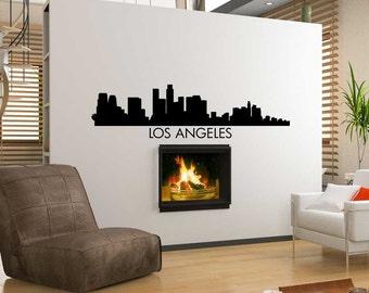 Los Angeles City Skyline Vinyl Sticker Decal ~ Item 0211