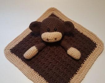 Crochet monkey comforter