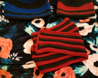 Double Crochet Beanie and Scarf Package